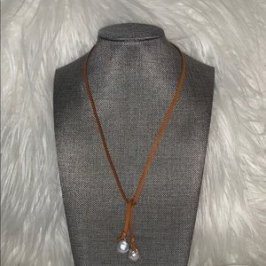 Jewelry - Leather Freshwater Pearls Necklace